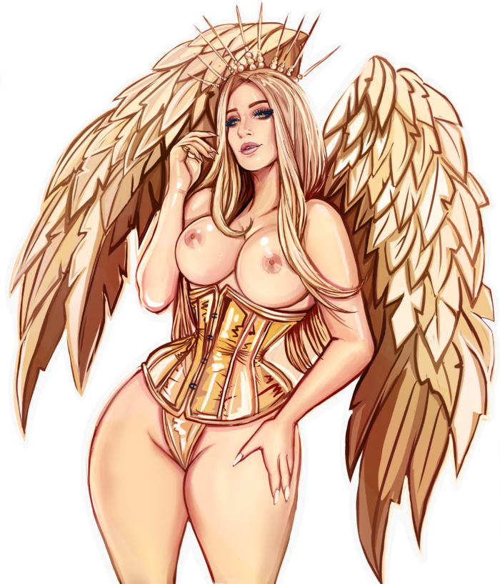 Gold-Angel-Sticker-NSFW